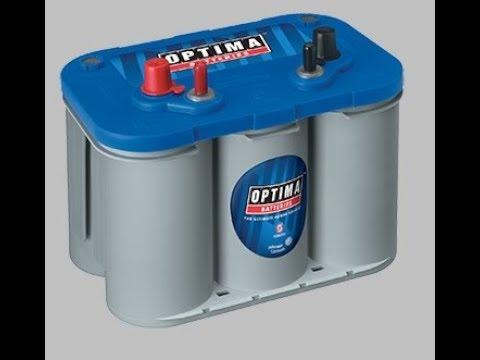 Optima Marine Blue Top as a Solar Van Battery review reserve capacity D34 V
