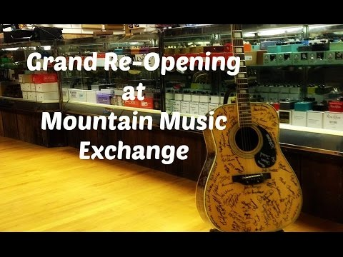 Grand Re-Opening at Moutain Music Exchange