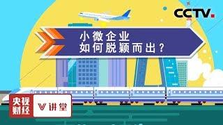 《央视财经V讲堂》 20190608 小微企业如何脱颖而出?| CCTV财经