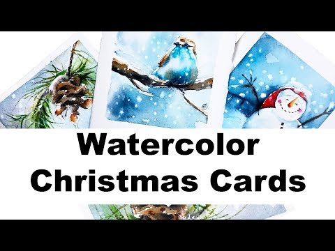 Watercolors  Easy Holiday Cards Painting Tutorial