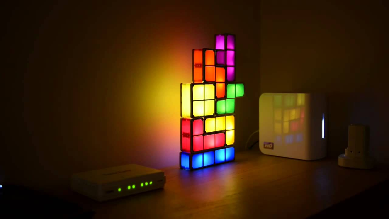 - Tetris Stackable LED Desk Lamp - YouTube