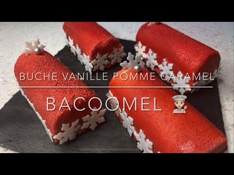 bûche-de-noël-simple-et-légère-:-vanille,-pomme,-caramel-beurre-salé,-dessert-idéal-pour-les-fêtes-!