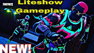 NEW Liteshow Skin Gameplay (Best Moments) - FORTNITE