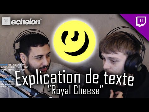 Youtube: LES EXPLICATIONS DE « ROYAL CHEESE » (Ft.VALD)