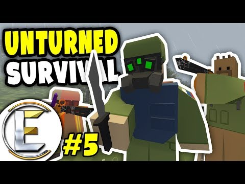 Military Base Action | Unturned Survival Series #5 - Fight for our lives