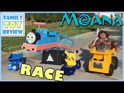 DinoTrux Toys RACE Moana Maui VS Thomas & Friends 다이노트럭 모아나 마우이 - Disney Moana Plush Oceania Vaiana