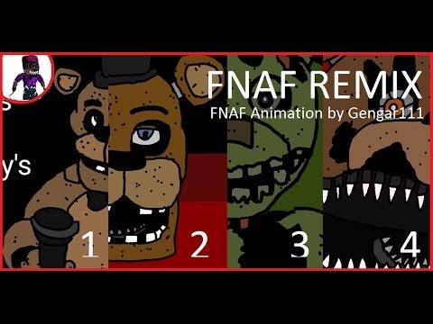 !!FNAF Music Animation] FNAF Remix By Super Enguana Pianist !!