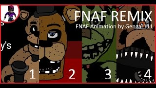 !!FNAF Music Animation] FNAF Remix by Super Enguana Pianist !!