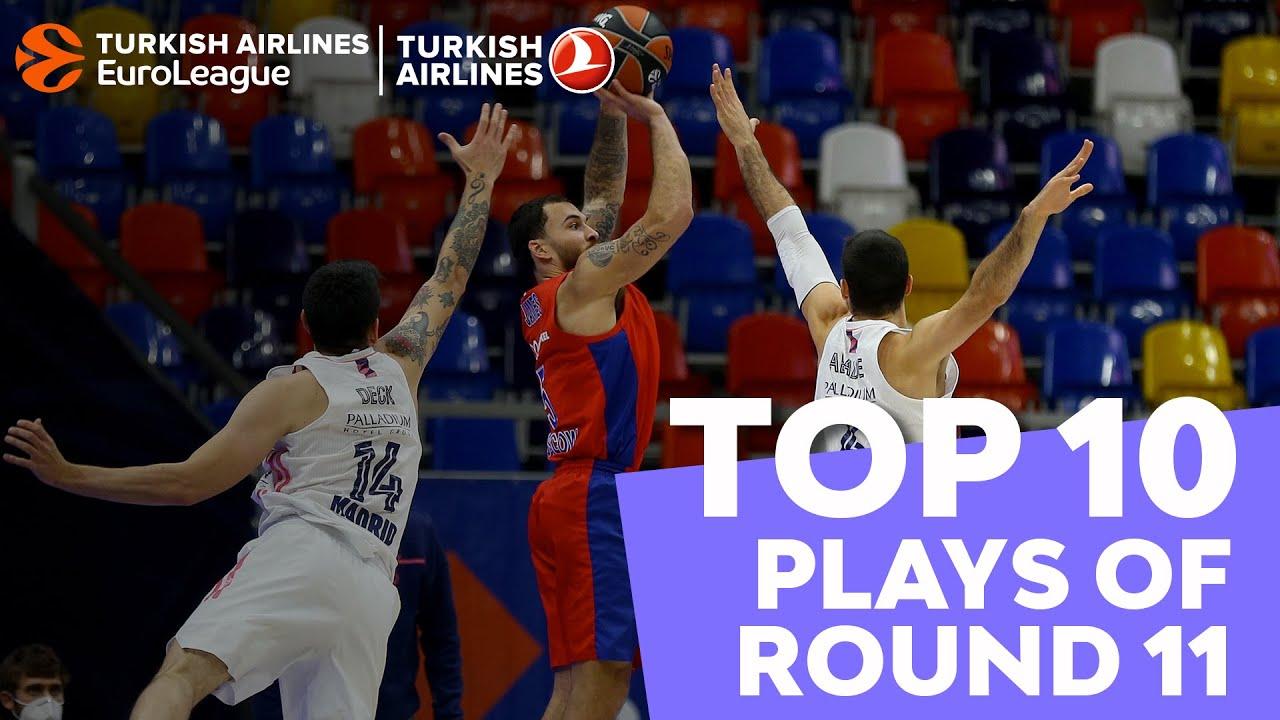 THY EuroLeague'de 11. haftanın en iyi 10 hareketi Videosu