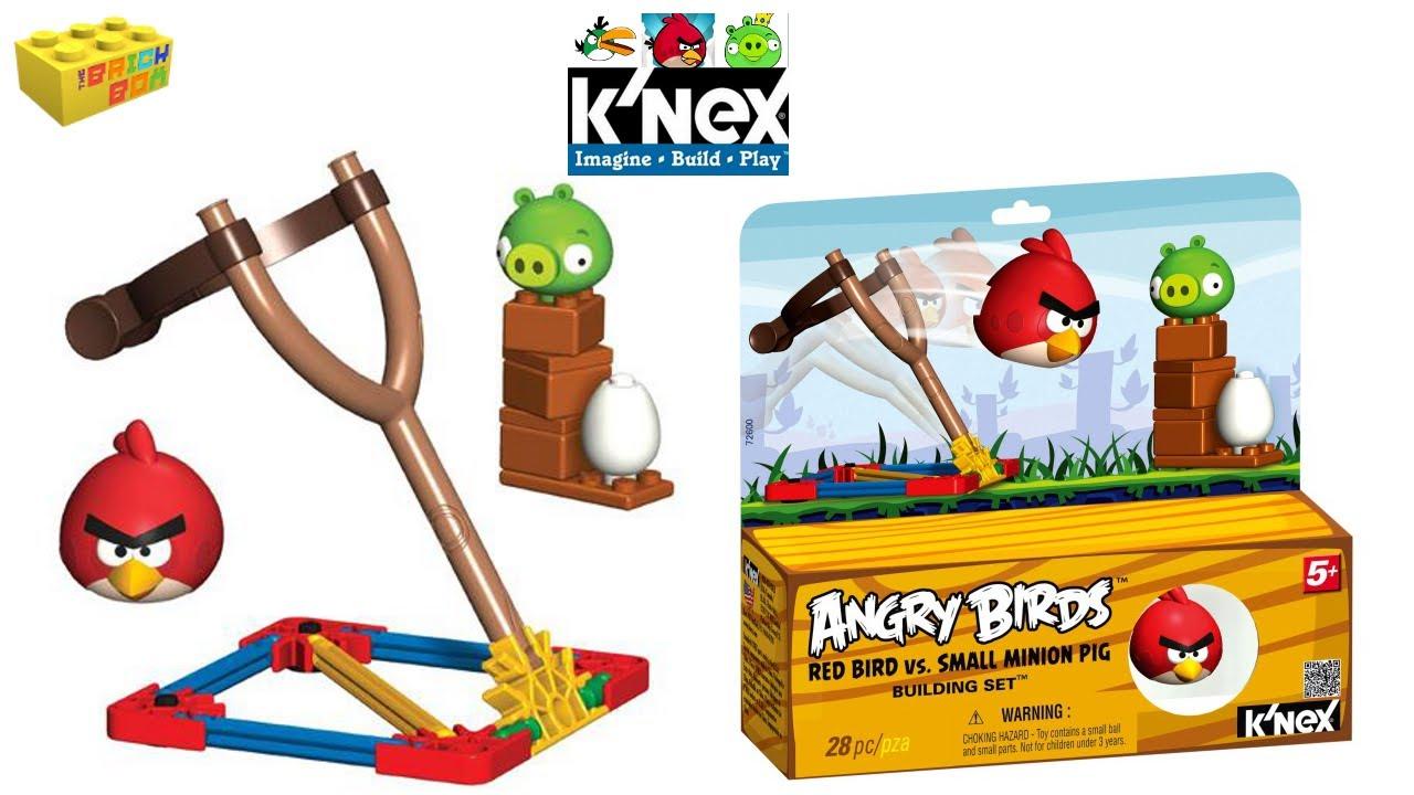 Angry Birds K/'nex RedBirdvsSmallMinionPig Building Set