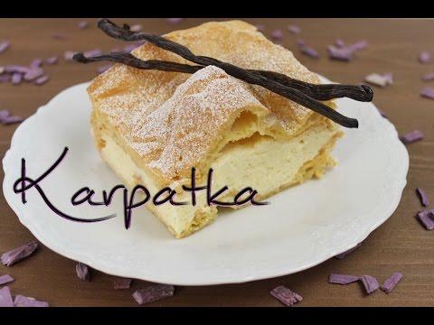 Karpatka Rezept - polnischer Windbeutelkuchen - mit Brandteig und Puddingcreme