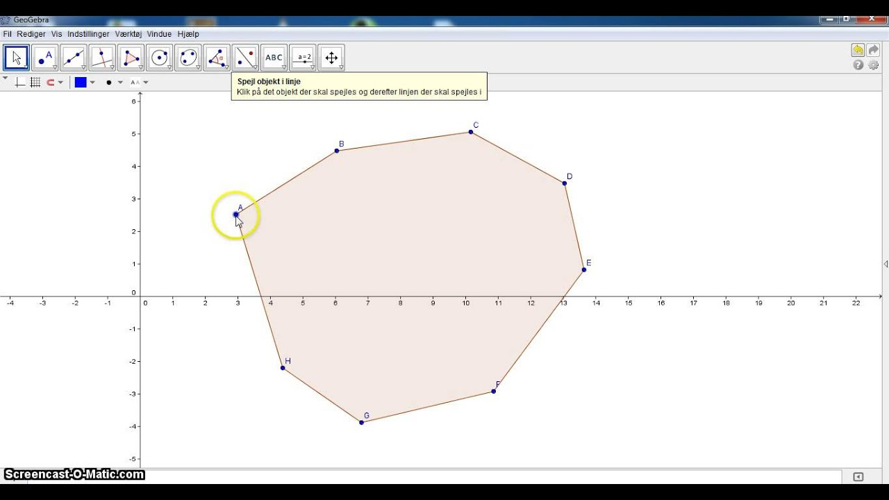 GeoGebra Lektion1 polygon