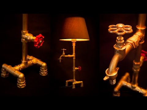 Steampunk DIY Industrial Pipe Lamp #1