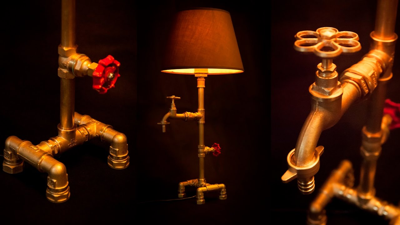 Steampunk Diy Industrial Pipe Lamp 1 Youtube