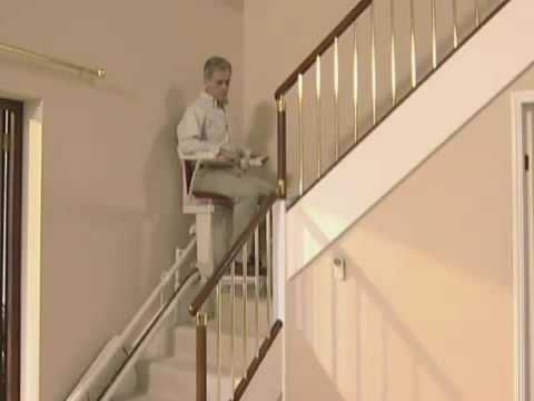 Curved Stairlift Stairliftshomecom Youtube