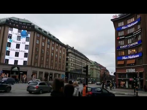 Stockholm - LED advertisement with holes for windows