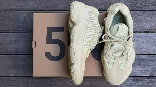 """ADIDAS YEEZY 500 """"SUPER MOON YELLOW"""" 
