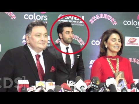 Ranbir Kapoor Embarrassed Of Father Rishi Kapoor At Stardust Awards 2016