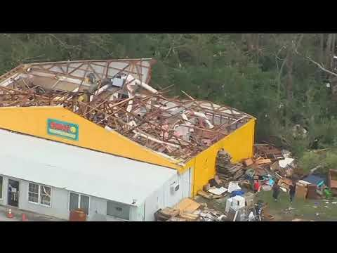 VIDEO: Storm Damage In Haileyville Oklahoma From Osage SkyNews 6 HD