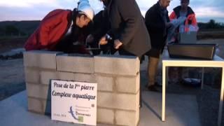 Complexe aquatique du Thouarsais : pose de la 1ere pierre