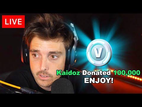 Destroying YouTubers Then Donating 100,000 VBucks (Fortnite)