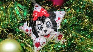 МК#4 Новогодняя звезда из бисера Минни Маус. Бисероплетение.