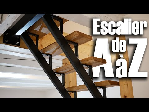 Construire Un Escalier De A à Z - Metal Et Bois - DIY // ⓇⒷ