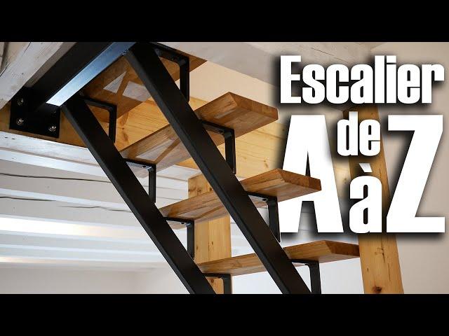 Construire Un Escalier De A à Z Metal Et Bois Diy
