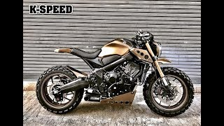 "Мотоцикл ""Dirt Devil"" Custom By K-SPEED&H2C на базе Honda CB650R 2019"