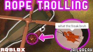 TROLLING FANS CON L'ELICOTTERO ROPE!! | Roblox Jailbreak Trolling