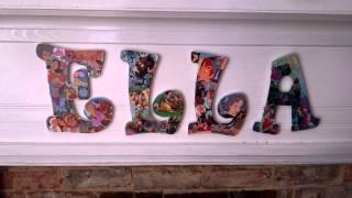 How Mod Podge, Wooden Letters & Disney Go Together
