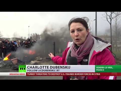 French prison protests: Workers block jails nationwide, demand staff protection