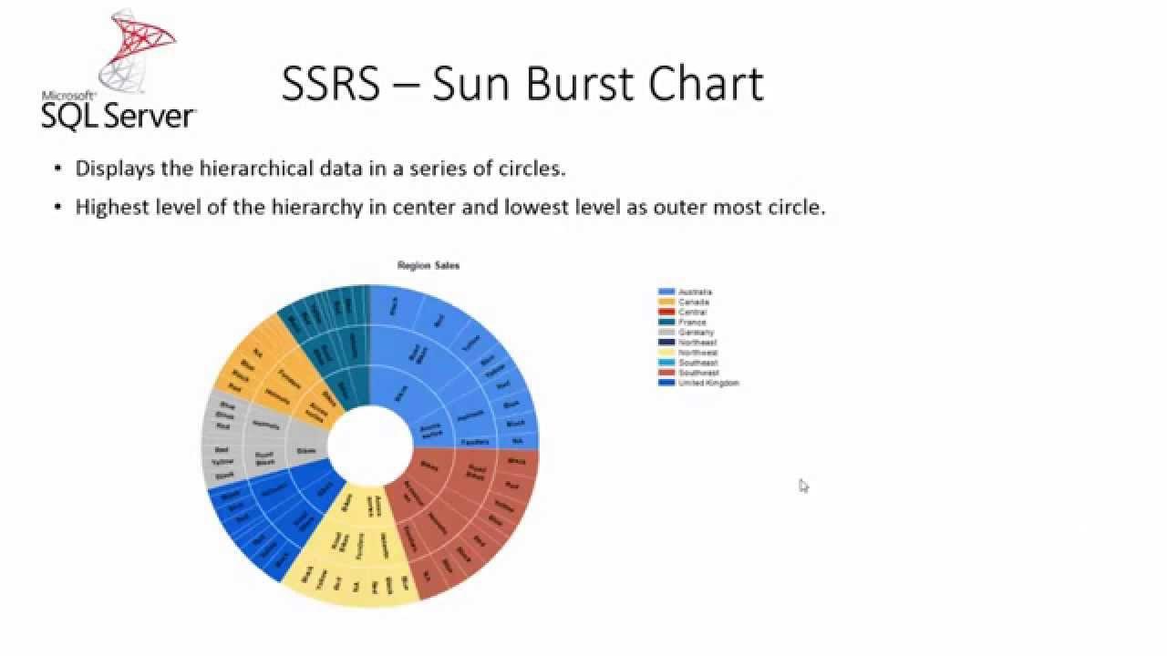 sql server 2016 new feature series - ssrs - sun burst chart