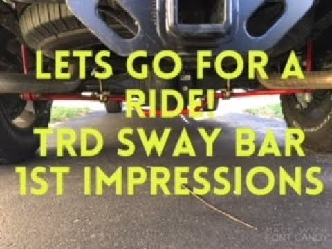Toyota Tundra Trd Sway Bar 1st Drive Impressions