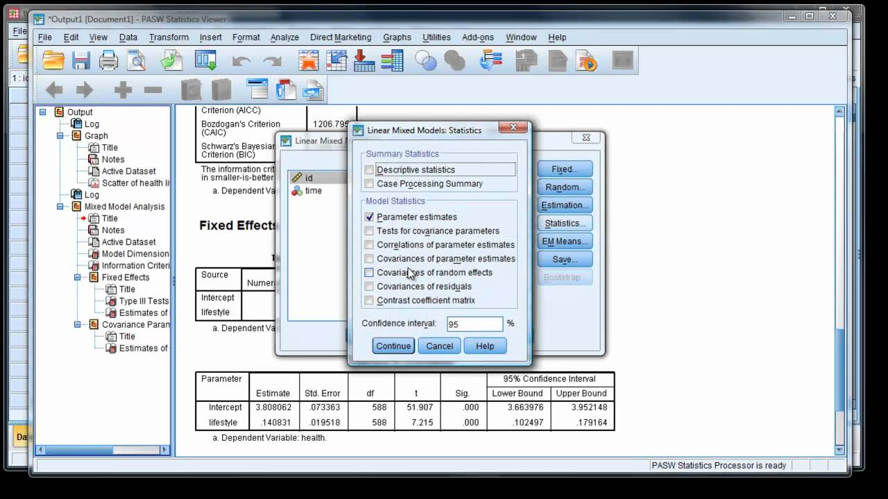 Modern repeated measures analysis using mixed models in SPSS (2)