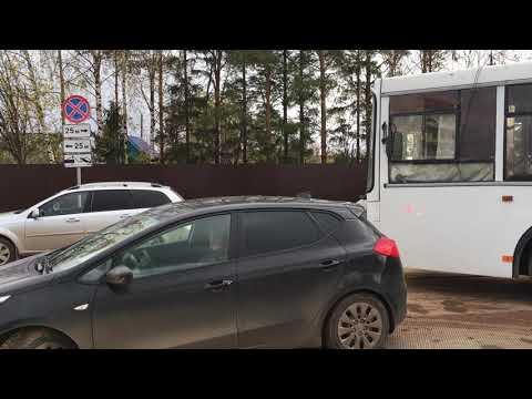 разворот автобуса у 26 школы в Кирове