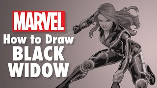 How to Draw Black Widow LIVE w/ Phil Noto! | Marvel Comics