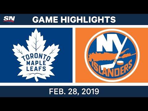 NHL Highlights | Maple Leafs vs. Islanders - Feb 28, 2019