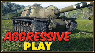 Aggressive Play - T110E3 - World of Tanks Gameplay
