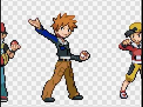 editing pokemon trainer sprites youtube