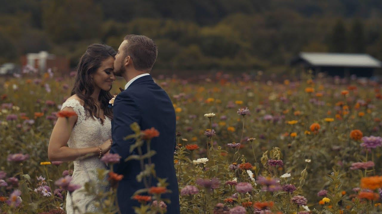 Beautiful Bride's Prayer in The Garden   Hidden River Events - Asheville, NC Wedding Videography