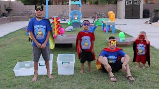 FIDGET SPINNERS EGG HUNT with SUPER HEROES