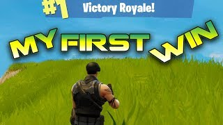 Fortnite Battle Royale : My 1ST Victory | PC Round 2