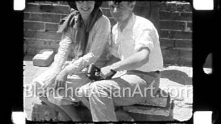 1920s Film of China: picnic and shopping on the Great Wall of China