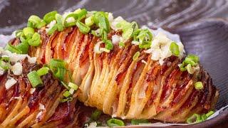 Жареная Картошка в духовке Особый вкус и простейшее приготовление Хассельбек