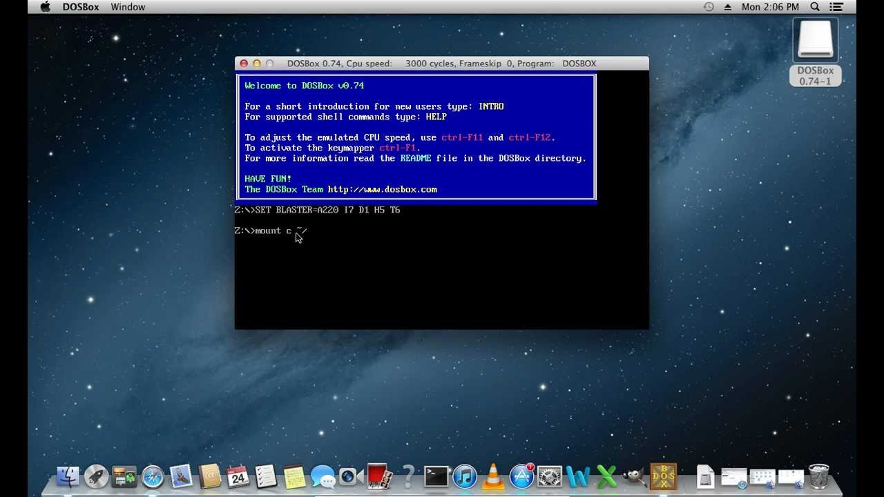 How to Use Dosbox on Mac OS
