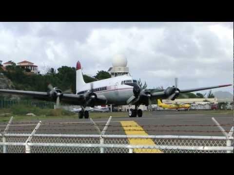 ST MAARTEN (SXM) DOUGLAS C-54 SKYMASTER N406WA TAKE OFF