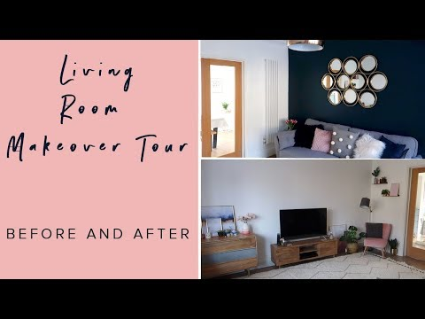 LIVING ROOM MAKEOVER TOUR- BEFORE AND AFTER
