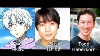 Mirai Nikki (The Future Diary) Characters and voice actors [ENG and JP]