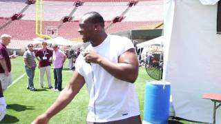 "Gerald McCoy Free-style rapping - ""with the T-pain app"""